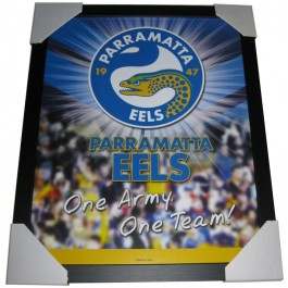 Parramatta Eels Club badge poster framed Image Full View