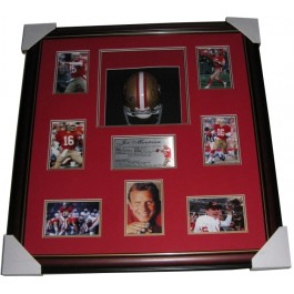 Joe Montana signed helmet framed memorabilia image full view
