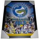 Parramatta Eels Club badge poster framed