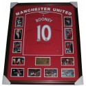 Wayne Rooney signed Manchester United jersey FRAMED