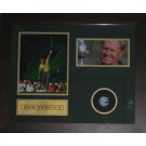 Jack Nicklaus memorabilia signed Golf ball FRAMED image full view
