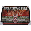 St George Dragons 2010 PREMIERS squad poster Breathing Fire