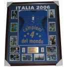 Italy 2006 squad signed jersey World Cup framed authentic Image Full View