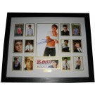 Zac Efron signed photo memorabilia framed