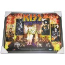 Kiss Autographed Memorabilia Framed. Full View