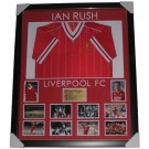 Ian Rush Signed Liverpool FC Jersey 1984 framed authentic Image Full View
