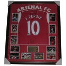 Robin van Persie signed Arsenal FC jersey FRAMED authentic Image Full View