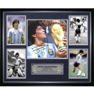 Diego Maradona signed photo memorabilia image full view