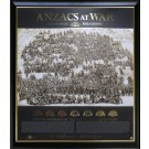 ANZACS AT WAR PRINT PHOTO FRAMED