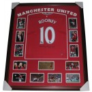 Wayne Rooney Signed Manchester United Jersey Framed authentic Image Full View