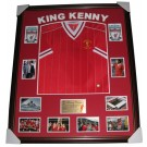 Kenny Dalglish Signed Liverpool FC Jersey 1984 Framed authentic Image Full View