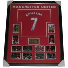 Cristiano Ronaldo signed Manchester United jersey framed authentic Image Full View
