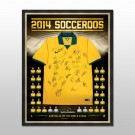 Australian Socceroos - World Cup 2014 Squad Signed and Framed Jersey