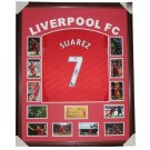 Luis Suarez Signed Liverpool FC Jersey Framed authentic Image Full View
