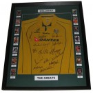 Australia Rugby union Wallaby LEGENDS signed jersey framed authentic Image Full View