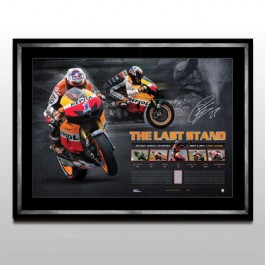 Casey Stoner Memorabilia Limited Edition Framed image full view