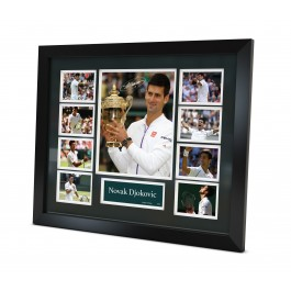 Novak Djokovic Signed Photo Limited Edition Framed image