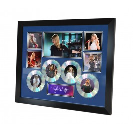 Taylor Swift 4 Cd Memorabilia Framed