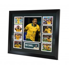Tim Cahill signed photo Framed Memorabilia image