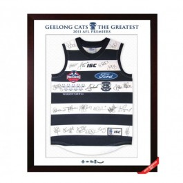 Geelong Cats 2011 signed jersey premiers image full view