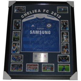 Chelsea FC 2012 squad signed jersey Champions League image full view