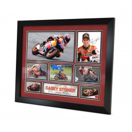 Casey Stoner signed photo Framed Memorabilia image full view