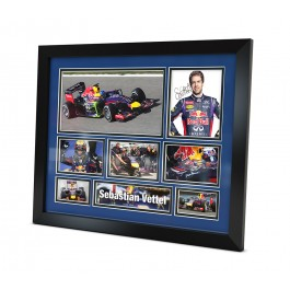 Sebastian Vettel signed photo Formula one memorabilia