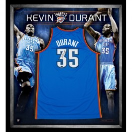 Kevin Durant signed Oaklahoma City Thunder jersey image full view