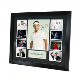 Roger Federer Memorabilia Limited Edition Framed image full view
