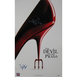 The Devil Wears Prada signed poster