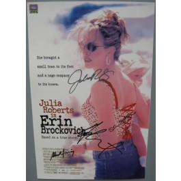 Erin Brockovich signed poster julia roberts