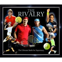 The Rivalry signed by Rafael Nadal and Roger Federer image full view
