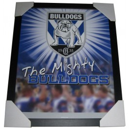 Bulldogs Club badge poster framed image full view