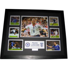 Frank Lampard signed photo memorabilia framed image full view