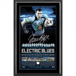 Paul Gallen signed 2014 Lithograph NSW Origin