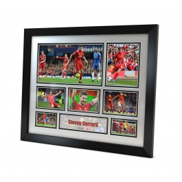 Steven Gerrard signed Memorabilia Limited Edition Framed image full view