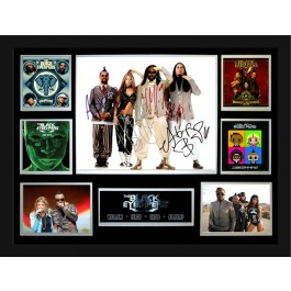 Black Eyed Peas signed photo framed memorabilia image full view