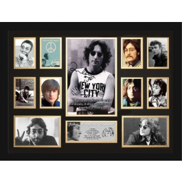 John Lennon signed photo framed memorabilia image full view