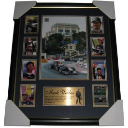 2010 Mark Webber Personally Signed Monaco Win Frame image
