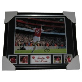 Robin van Persie autograph Arsenal FC photo image full view