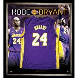 Kobe Bryant signed LA Lakers jersey image full view