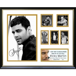 Ricky Martin signed photo image full view