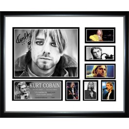 Kurt Cobain signed photo framed