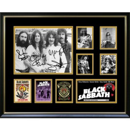 BLACK SABBATH signed photo framed memorabilia