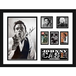 Johnny Cash signed photo framed image