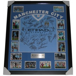 Manchester City 2012 squad signed jersey image full view