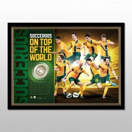 Australian Socceroos - 2014 FIFA World Cup Framed Celebration Medallion