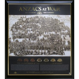 ANZACS AT WAR PRINT PHOTO FRAMED LIMITED EDITION