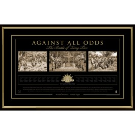 AGAINST ALL ODDS-THE BATTLE OF LONG TAN PRINT PHOTO FRAMED