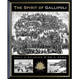 SPRIT OF GALLIPOLI ANZAC PRINT PHOTO FRAMED